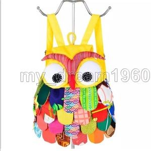 Other - Cotton Patchwork Owl Backpack